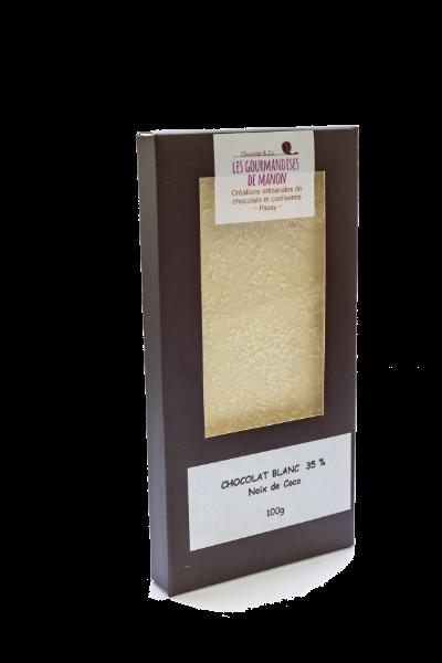 Tablette chocolat blanc Noix de coco râpée