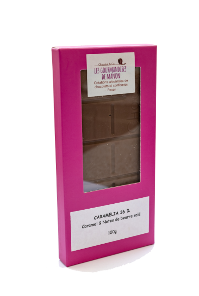 Tablette chocolat lait caramel Caramélia 36%